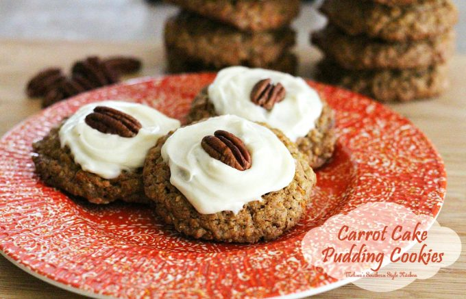 Carrot Cake Pudding Cookies