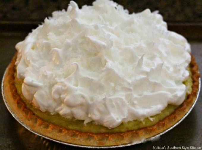 unbaked pie with meringue topping
