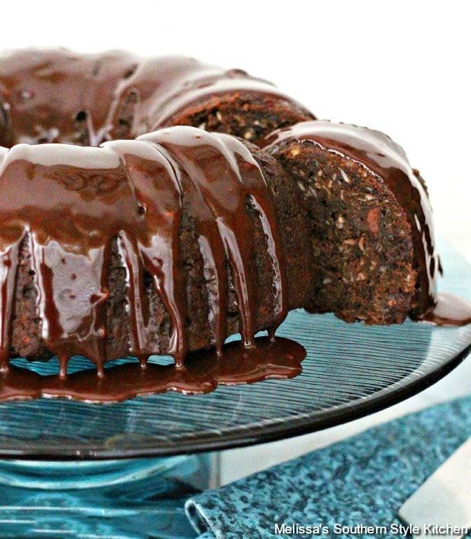 Sliced Double Chocolate Zucchini Cake