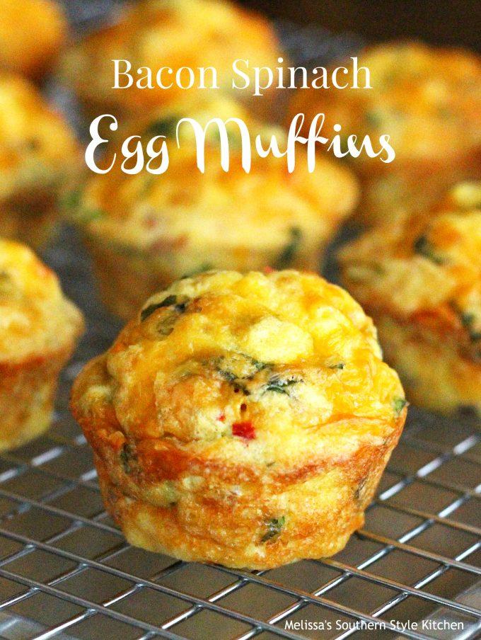 Bacon Spinach Egg Muffins Melissassouthernstylekitchen Com
