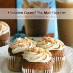 Cinnamon Caramel Macchiato Cupcakes With Cream Cheese Frosting