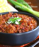 Crockpot Barbecue Pork and Beans