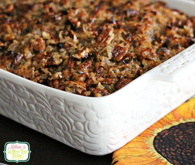 Oatmeal Cake With A Broiled Coconut-Pecan Topping
