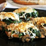 Smothered Asiago Chicken With Spinach And Mushrooms