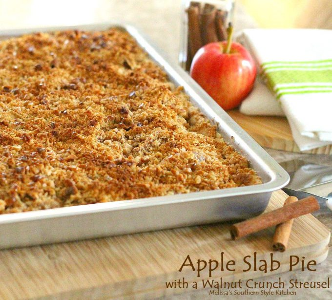 Apple Slab Pie With A Walnut Crunch Streusel