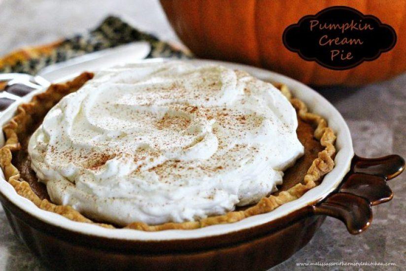Pumpkin Cream Pie With Bourbon Whipped Cream