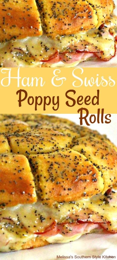 Ham And Swiss Poppy Seed Rolls