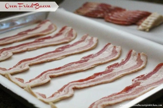 Easy Oven Fried Bacon