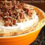 Salted Caramel Coconut Cream Pie