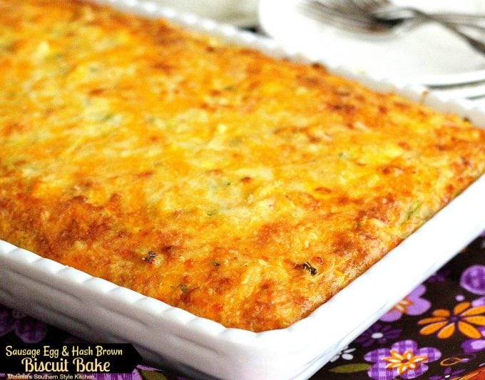 Sausage Egg And Hash Brown Biscuit Bake