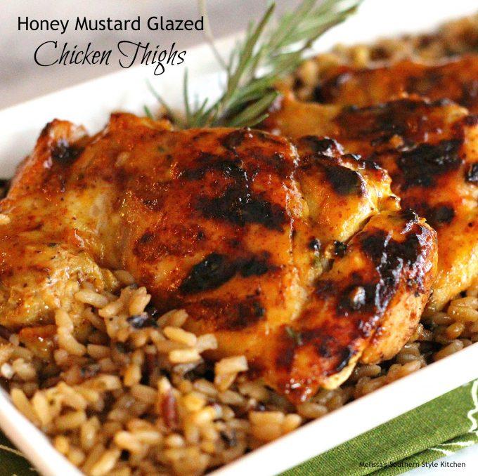 Honey Mustard Glazed Chicken Thighs