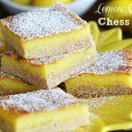 Lemon Chiffon Chess Bars