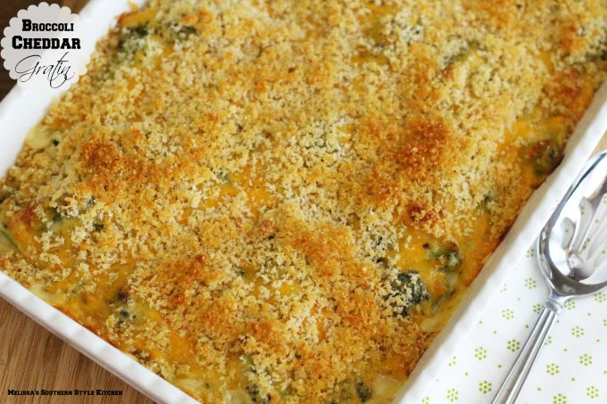 Broccoli Cheddar Gratin