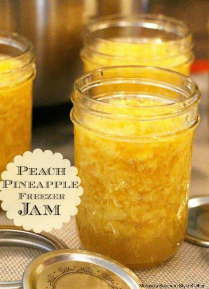 Easy Peach Pineapple Freezer Jam