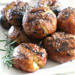 Grilled Garlic Rosemary Smashed Potatoes