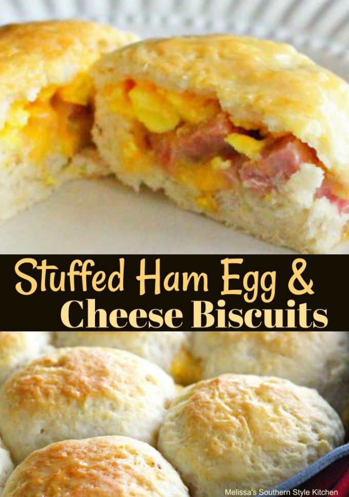 Stuffed Ham Egg And Cheese Biscuits
