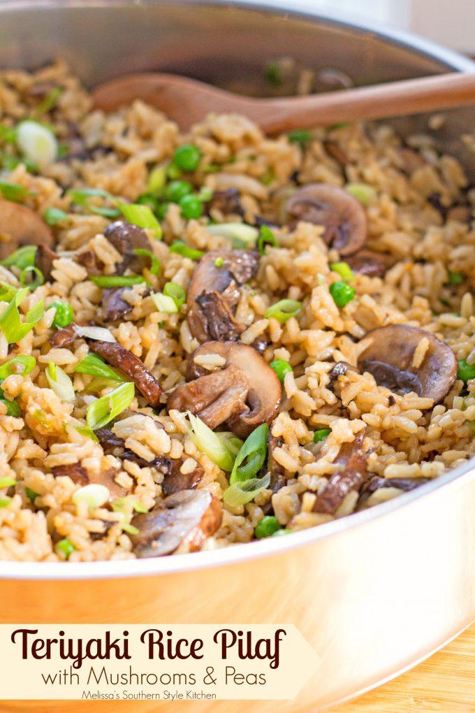 Teriyaki Rice Pilaf With Mushrooms And Peas