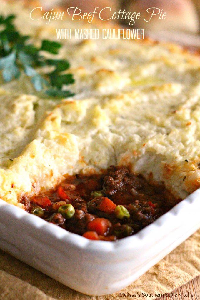 Cajun Beef Cottage Pie With Mashed Cauliflower