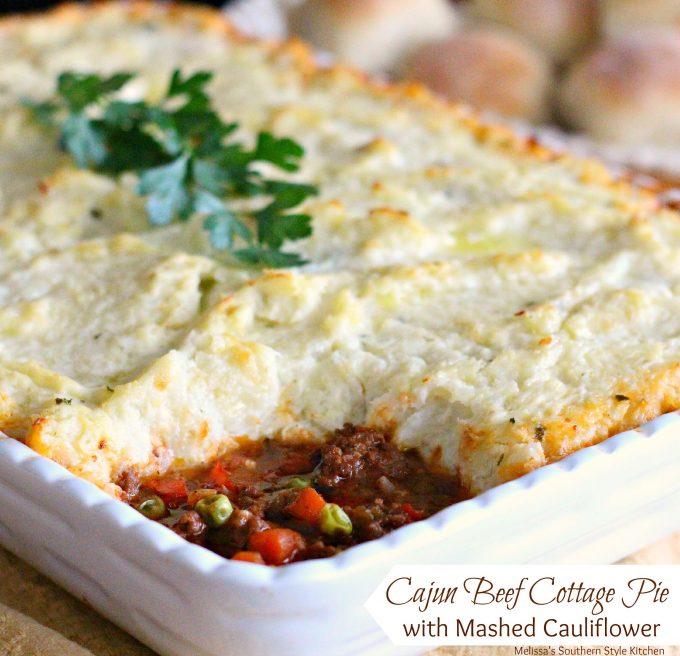 Cajun Beef Cottage Pie With Mashed Cauliflower
