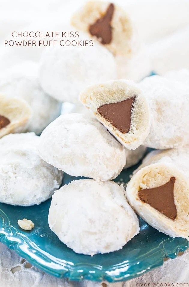 CHOCOLATE KISS POWDER PUFF COOKIES