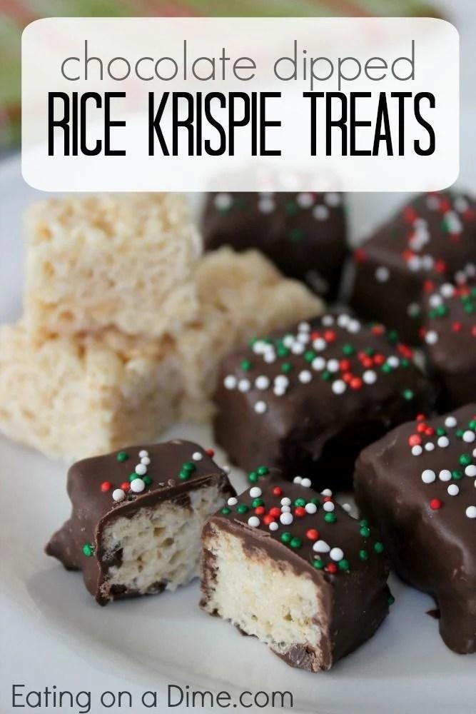 Chocolate Covered Rice Krispie Treats
