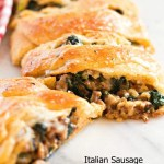 Italian Sausage Spinaach And Havarti Crescent Braid