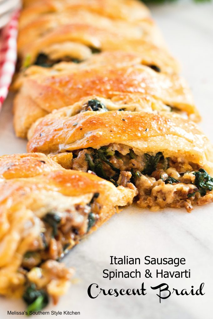 Italian Sausage Spinach And Havarti Crescent Braid