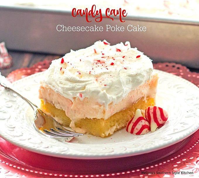 Candy Cane Cheesecake Poke Cake