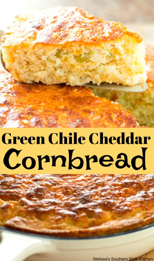 Green Chile Cheddar Cornbread