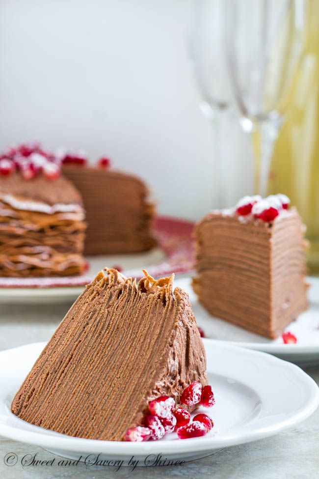 Chocolate Mousse Crepe Cake