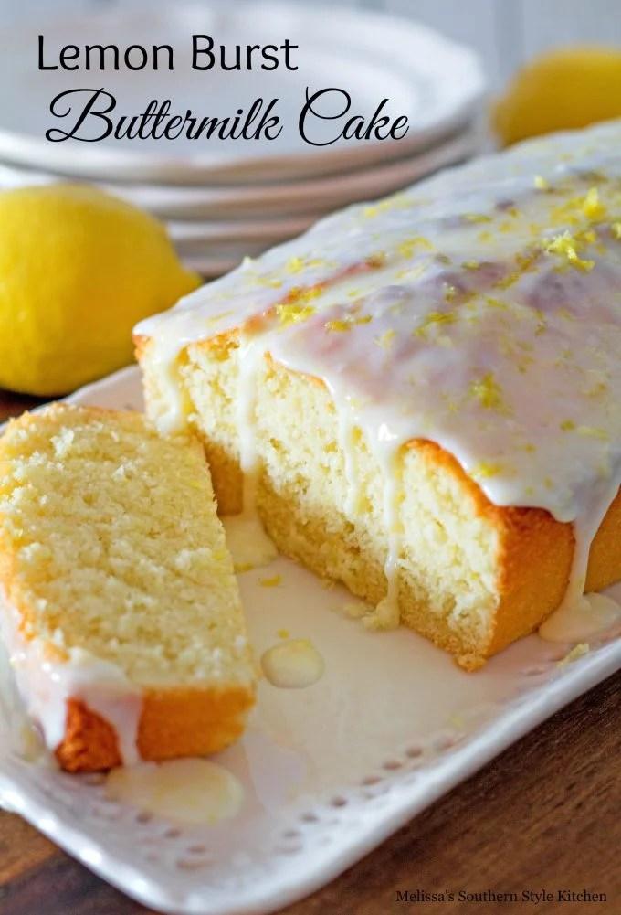 Lemon Burst Buttermilk Cake