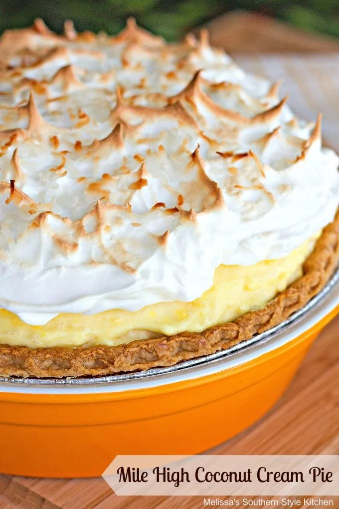 Mile High Coconut Cream Pie