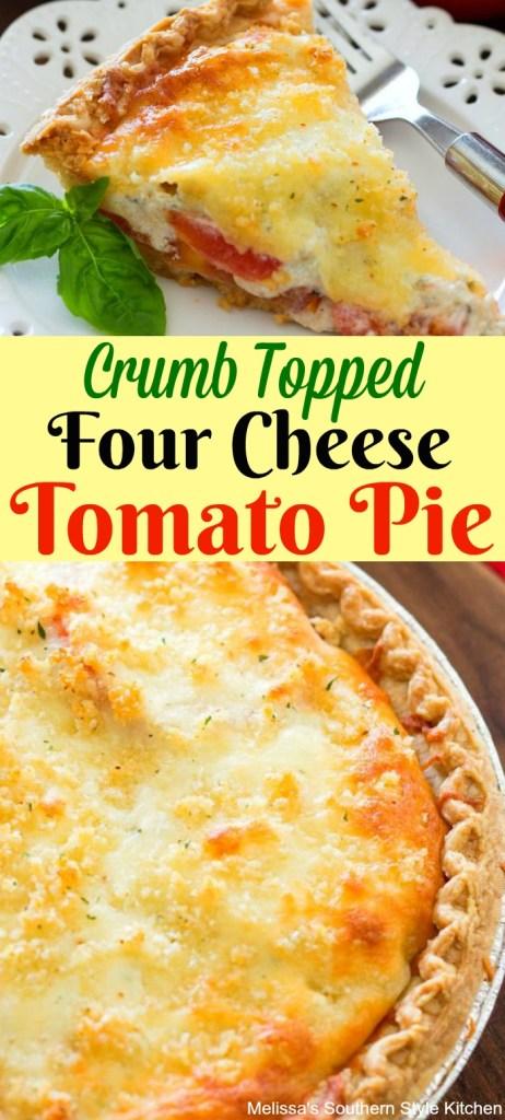 Crumb Topped Four Cheese Tomato Pie