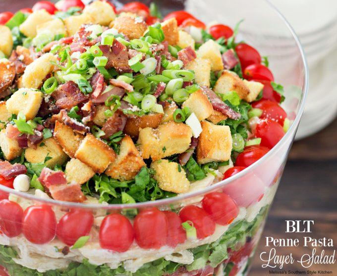BLT Penne Pasta Layer Salad