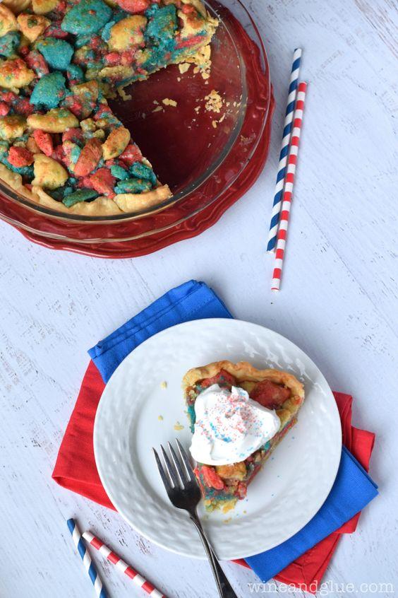Firework Sugar Cookie Pie
