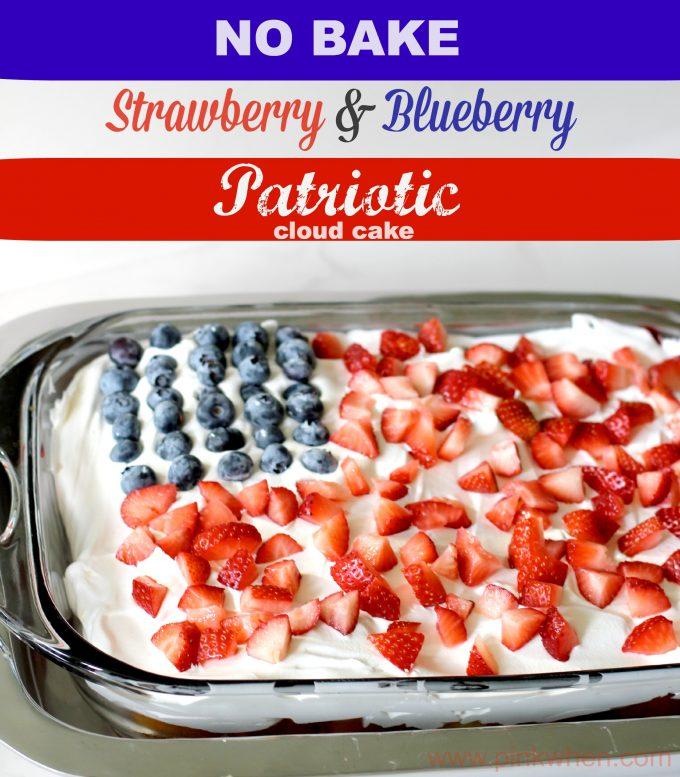 Strawberry Blueberry Cloud Cake