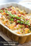 Chicken Bacon Ranch Potato Casserole