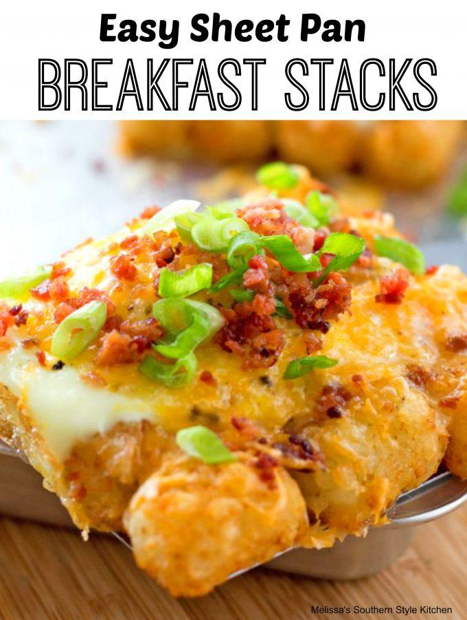 Easy Sheet Pan Breakfast Stacks