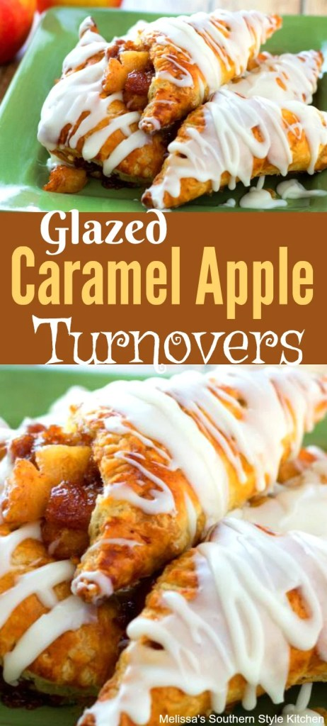 Glazed Caramel Apple Turnovers