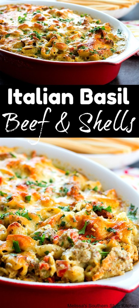 Italian Basil Beef And Shells