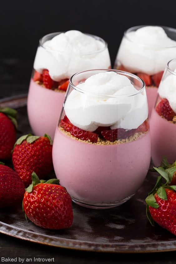 No-Bake Strawberry Cheesecake Mousse