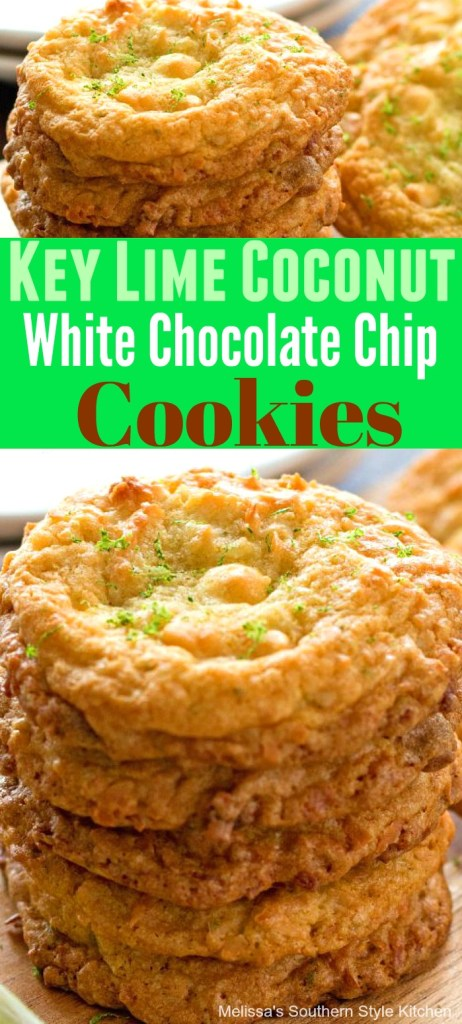Key Lime Coconut White Chocolate Chip Cookies
