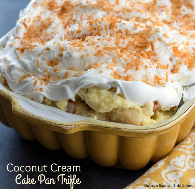 Coconut Cream Cake Pan Trifle