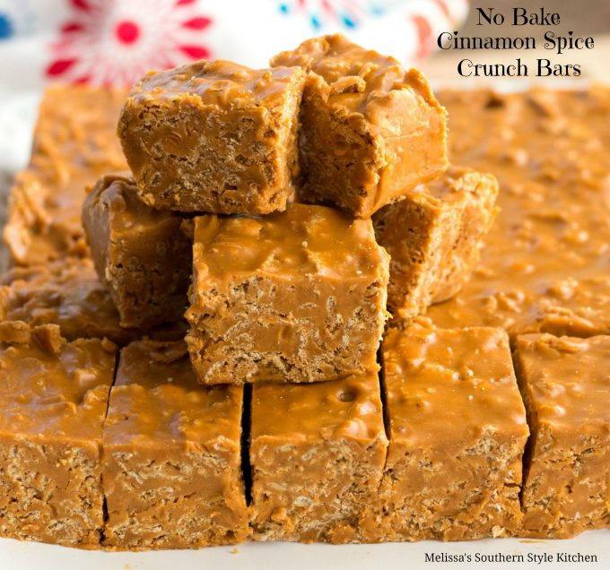 No-Bake Cinnamon Spice Crunch Bars