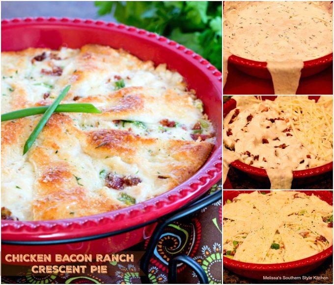 Chicken Bacon Ranch Crescent Pie