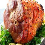 Brown Sugar Bourbon Pineapple Glazed Ham