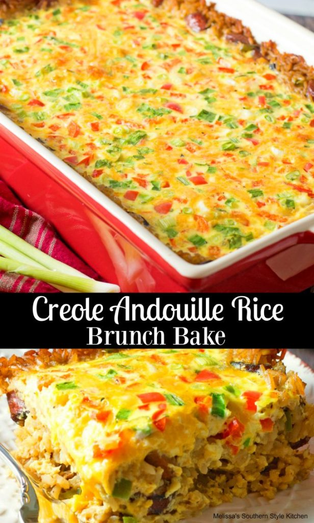Creole Andouille Rice Brunch Bake