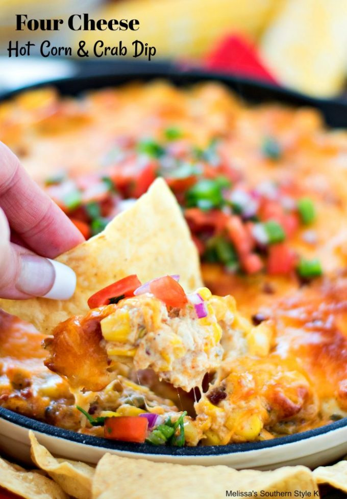 Four Cheese Hot Corn and Crab Dip