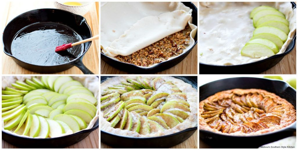 step-by-step pictures for preparing stuffed crust apple pie