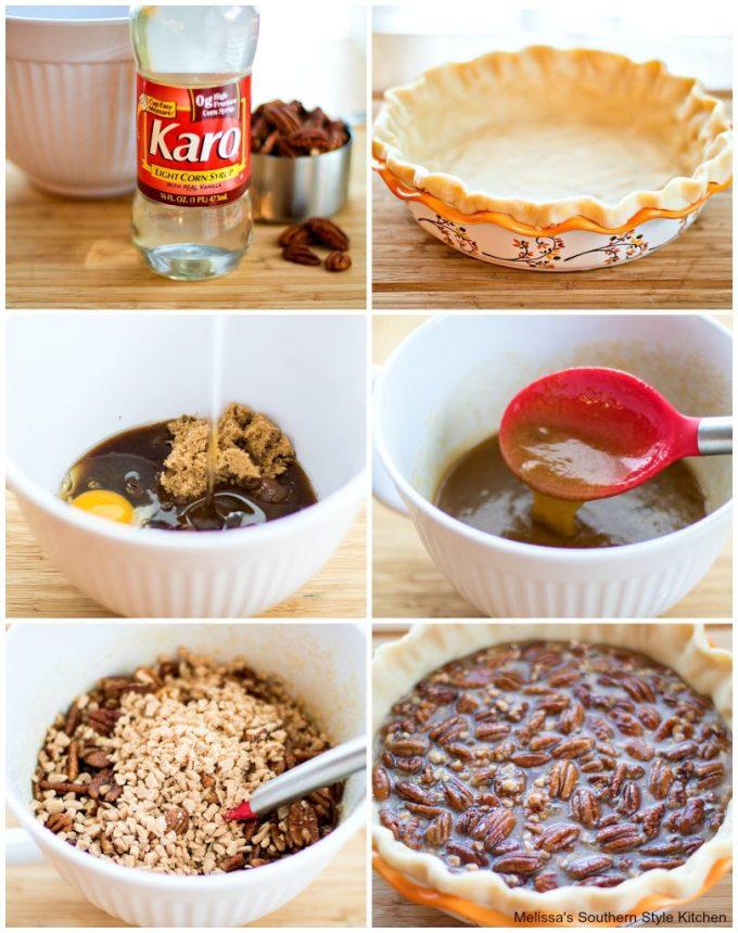step-by-step image making pecan pie